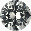 Great Deal on Round Cut Loose White Sapphire Gem, Near Colorless, Very Slight Hint Of Yellow, 6.44 mm, 1.14 carats