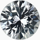 Best Loose White Sapphire Gem in Round Cut, Near Colorless, Very Slight Hint Of Blue, 6.52 mm, 1.15 carats