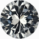 Top Quality Round Cut Loose White Sapphire Gem, Near Colorless, 6.56 mm, 1.19 carats