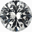 Unique Loose White Sapphire Gem in Round Cut, Near Colorless, 6.51 mm, 1.19 carats