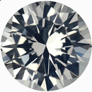Hard to Find Round Cut Loose White Sapphire Gem, Near Colorless, Very Slight Hint Of Yellow, 6.5 mm, 1.21 carats