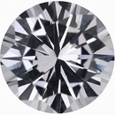 Dazzling Loose White Sapphire Gem in Round Cut, Near Colorless, Very Slight Hint Of Pink, 6.56 mm, 1.23 carats