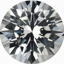 Unbelievable Round Cut Loose White Sapphire Gem, Near Colorless, 6.62 mm, 1.27 carats