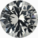 Attractive Loose White Sapphire Gem in Round Cut, Near Colorless, 6.75 mm, 1.29 carats