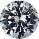 Super Nice Loose White Sapphire Gem in Round Cut, Near Colorless Very Slight Hint Of Blue, 6.78 mm, 1.36 carats