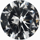 Lively Round Cut Loose White Sapphire Gem, Near Colorless, 6.96 mm, 1.32 carats