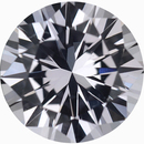 Unique Loose White Sapphire Gem in Round Cut, Near Colorless Very Slight Hint Of Pink, 7.02 mm, 1.51 carats