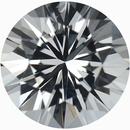 Hard to Find Round Cut Loose White Sapphire Gem, Near Colorless, Very Slight Hint Of Green, 7.03 mm, 1.53 carats