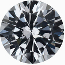 Super Pretty Loose White Sapphire Gem in Round Cut, Near Colorless Very Slight Hint Of Blue, 7.19 mm, 1.6 carats