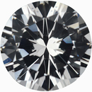 Excellent Round Cut Loose White Sapphire Gem, Near Colorless Very Slight Hint Of Yellow, 7.5 mm, 1.73 carats