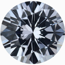 Lively Round Cut Loose White Sapphire Gem, Near Colorless, Slight Hint Of Blue, 7.61 mm, 1.95 carats