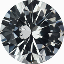 Pretty Round Cut Loose White Sapphire Gem, Near Colorless Hint Of Green, 8.04 mm, 2.14 carats