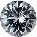 Beautiful Loose White Sapphire Gem in Round Cut, Near Colorless Hint Of Blue, 8 mm, 2.14 carats