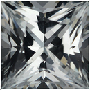Beautiful Square Cut Loose White Sapphire Gem, Near Colorless, 5.50 x 5.47 mm, 1.02 carats