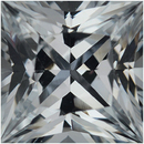 Low Price on Loose White Sapphire Gem in Square Cut, Near Colorless Hint Of Blue, 5.57 x 5.56 mm, 1.07 carats