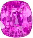 Rich Vibrant Pink Sapphire in Cushion Cut, Gorgeous Rich Pink Color in 8.5 x 7.5 mm, 2.79 carats
