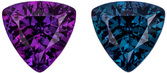 Desirable Trillion Alexandrite Loose Gem Stone in Rich Eggplant to Teal Blue Green Color Change in 4.5 mm, 0.37 carats
