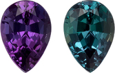 Rare Pear Gemmy Alexandrite Deep Color Change from Blue Green to Eggplant Colors, 5.5 x 3.8 mm, 0.42 carats