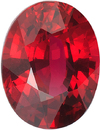 Amazing Rare Quality Ruby Loose Oval Gemstone in Intense Red Color, Super Fine Stone, 8.37 x 6.48 mm, 2.00 Carats - With CDC Certificate