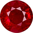 Rich Looking Large Natural Ruby Gem In Round Cut, Open Medium Red Color in 7.00 mm, 1.53 carats