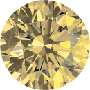 Loose Quality Genuine Natural Round Shape Enhanced Yellow Diamond SI Clarity, 1.70 mm in Size, 0.02 Carats