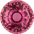 Faceted Sapphire Loose Gem in Round Cut, Light Purple Pink, 5.79 mm, 1.11 Carats