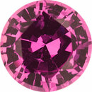 Special Sapphire Loose Gem in Round Cut, Light Vibrant Purple Pink, 6 mm, 1 Carats