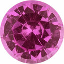 Natural Sapphire Loose Gem in Round Cut, Light Purple Pink, 5.51 mm, 0.77 Carats