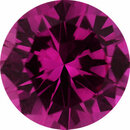 Nice Sapphire Loose Gem in Round Cut, Vibrant Purple Pink, 5.44 mm, 0.72 Carats