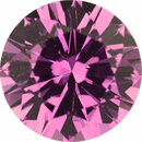 Top Gem Sapphire Loose Gem in Round Cut, Light Purple Pink, 5.47 mm, 0.7 Carats
