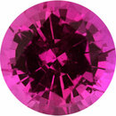 Attractive Sapphire Loose Gem in Round Cut,  Purplish Red, 5.53 mm, 0.81 Carats
