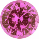 Good Looking Sapphire Loose Gem in Round Cut, Medium Red Purple, 6.72 mm, 1.34 Carats