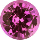 Nice  Unheated Sapphire Loose Gem in Round Cut, Medium Red Purple, 6.03 mm, 1.02 Carats
