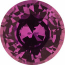 Nice Looking  Untreated Sapphire Loose Gem in Round Cut, Medium Red Purple, 6.23 mm, 1.09 Carats