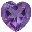 Grade A - Heart Genuine Amethyst 4.00 mm to 10.00 mm