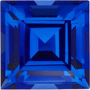 Grade GEM CHATHAM CREATED BLUE SAPPHIRE Square Step Cut Gems
