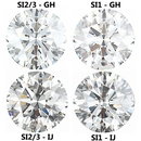 1 Carat Weight Diamond Parcel 100 Pieces 1.24 - 1.40 mm Choose Clarity & Color Grade