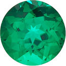 Grade GEM CHATHAM CREATED EMERALD Round Cut Gems  - Calibrated