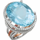 Platinum & 18KT Rose Aquamarine