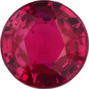 Very Fine  No Heat Ruby Loose Gem in Round Cut,  Purple Red, 5.53 mm, 1.01 Carats