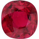 Gorgeous  Untreated Ruby Loose Gem in Antique Cushion Cut, Vibrant Red, 5.95 x 5.66  mm, 1.04 Carats