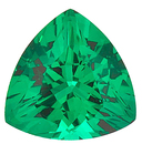Grade GEM CHATHAM CREATED EMERALD Trillion Cut Gems  - Calibrated