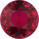 Faceted Ruby Loose Gem in Round Cut, Vibrant Red, 5.46 mm, 1.03 Carats