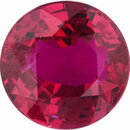 Superb Ruby Loose Gem in Round Cut, Vibrant Purple Red, 6.01 mm, 1.01 Carats