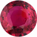 Natural Ruby Loose Gem in Round Cut, Vibrant Purple Red, 5.96 mm, 0.96 Carats