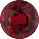 Classic Ruby Loose Gem in Round Cut, Vibrant Purple Red, 5.89 mm, 1.23 Carats
