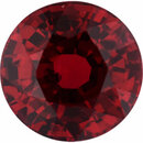 Super Value Ruby Loose Gem in Round Cut, Vibrant Purple Red, 5.83 mm, 1.29 Carats