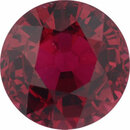 Sharp Ruby Loose Gem in Round Cut, Medium Orangy Red, 6.02 mm, 1.19 Carats