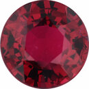 Genuine Ruby Loose Gem in Round Cut, Vibrant Red, 5.75 mm, 0.92 Carats