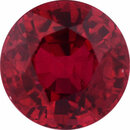Rich Ruby Loose Gem in Round Cut, Vibrant Red, 5.81 mm, 1.2 Carats